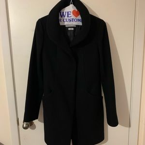 Wilfred cocoon wool coat black xxs